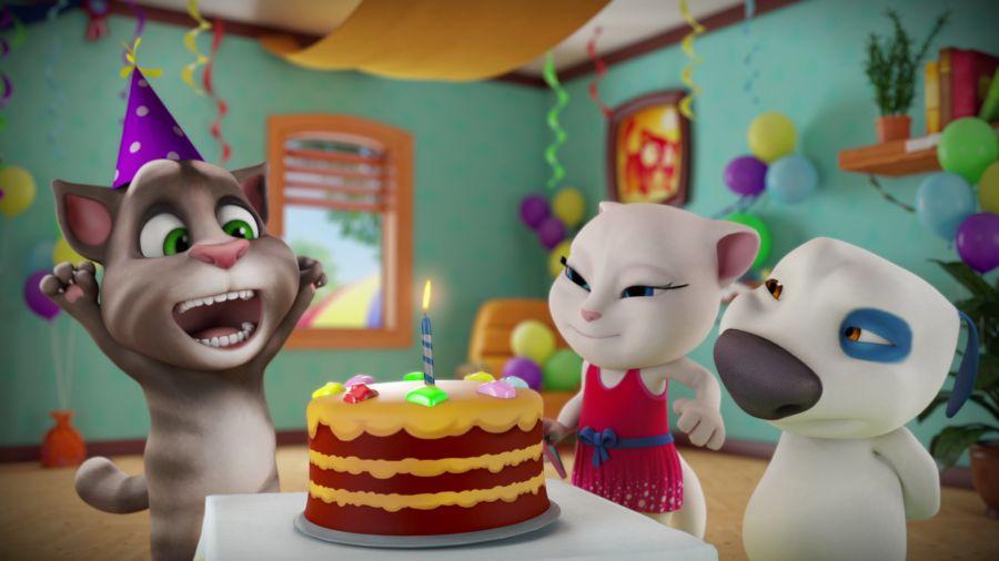 Говорящий Том и друзья. Эпизод 44. Суперторт на день рождения!