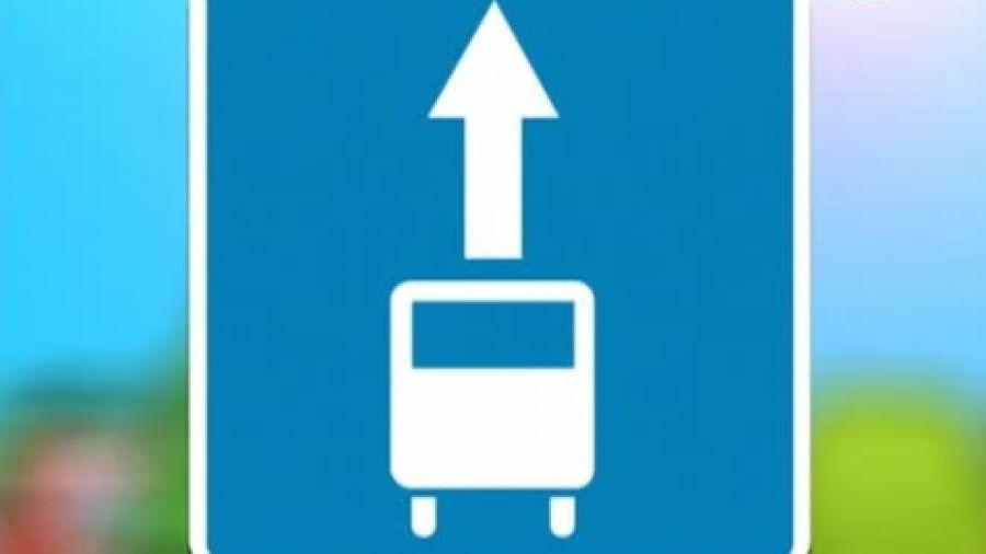 Знак «Полоса для маршрутных транспортных средств»
