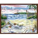 """Набор для рисования по номерам Цветной """"Берег моря"""", 40 x 50 см"""