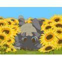 """Набор для рисования по номерам Цветной """"Котенок в подсолнухах"""", 10 x 15 см"""