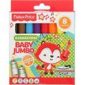 Mattel Набор фломастеров Baby Jumbo Fisher Price утолщенные 8 цветов