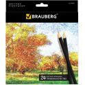Brauberg Набор цветных карандашей Artist Line 24 цвета