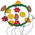 Smile Decor Игра-шнуровка Венок из листьев