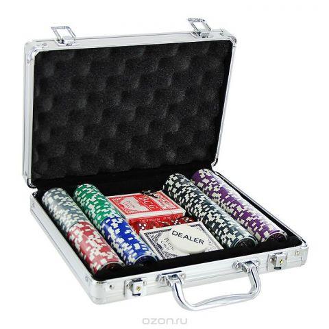 Набор для покера Perfecto в металлическом кейсе, размер: 29х20х6. DPC-200AL