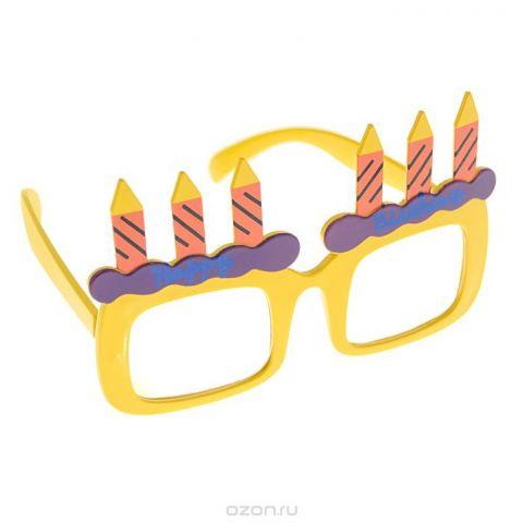 """Карнавальные очки """"Праздничный торт"""", цвет: желтый"""