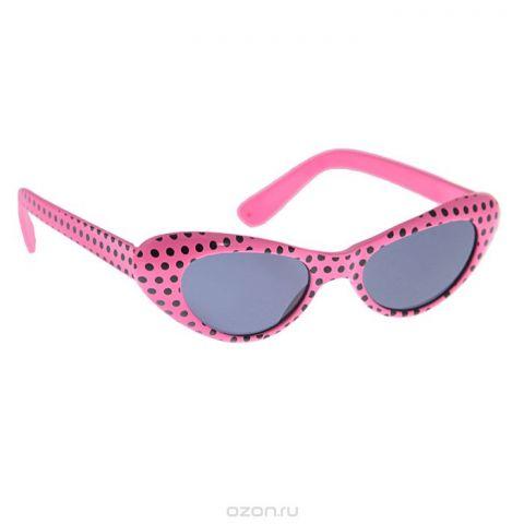"""Карнавальные очки """"Ретро"""", цвет: розовый"""