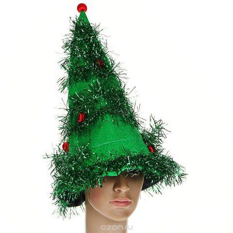 """Маскарадная шляпа """"Елка"""", цвет: зеленый. 31338"""
