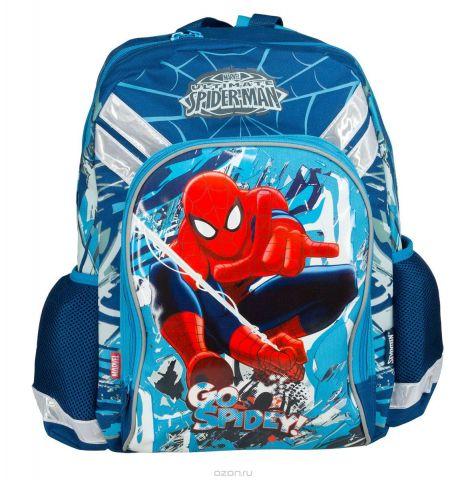 """Рюкзак школьный Kinderline """"Spider-man Classic"""", цвет: синий, красный, белый. SMCB-MT1-988M"""