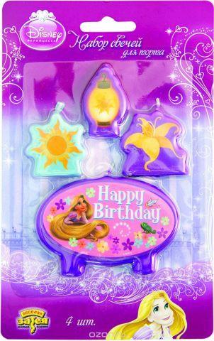 Веселая затея Свечи для торта Рапунцель 4 шт