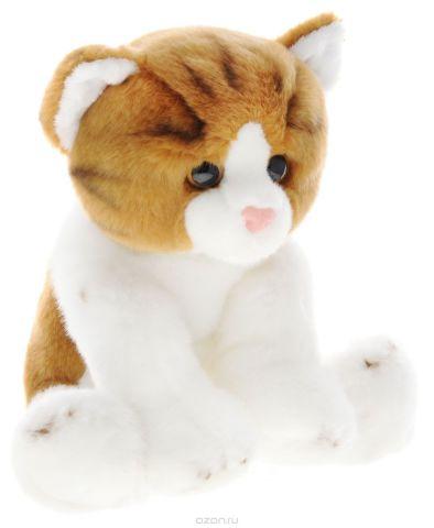 Maxi Toys Мягкая игрушка Котик цвет белый светло-коричневый 25 см