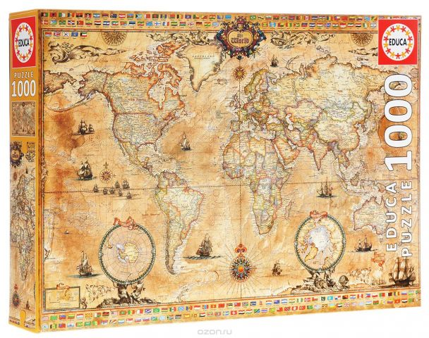Античная карта мира. Пазл, 1000 элементов
