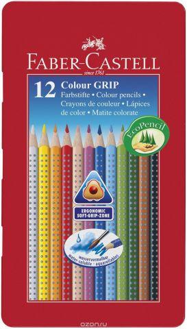 Faber-Castell Цветные карандаши Grip 12 цветов