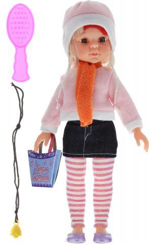 ABtoys Кукла Модница в джинсовой юбке