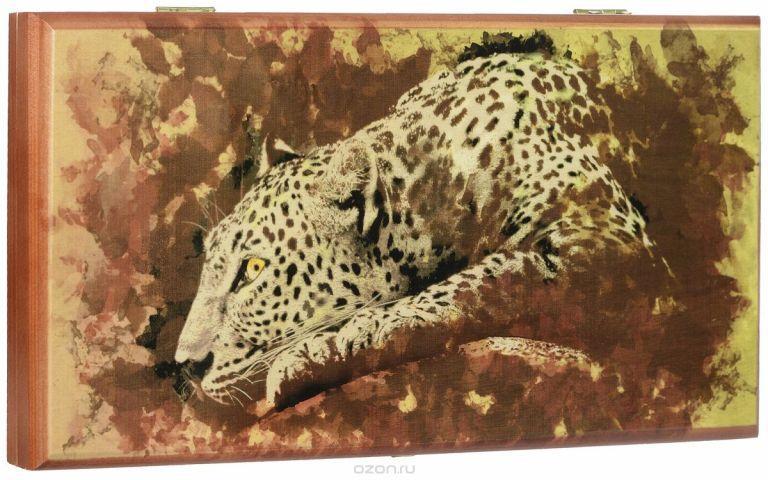 "Игровой набор 2в1 Астрон ""Леопард"": нарды, шашки, 40 х 20 х 4 см"