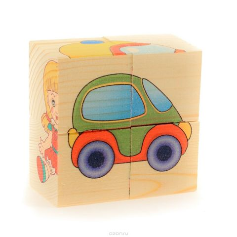 Развивающие деревянные игрушки Кубики Игрушки