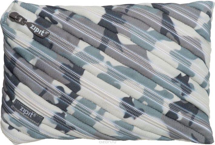 Zipit Пенал Camo Jumbo Pouch цвет серый камуфляж