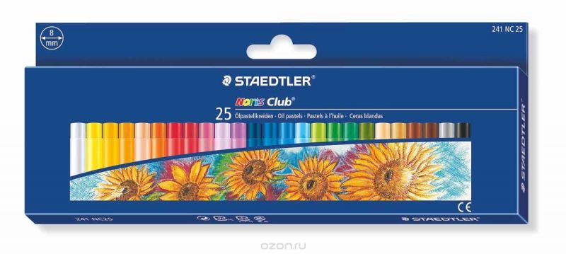 Staedtler Пастель масляная Noris Club 25 цветов