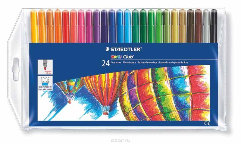 Staedtler Набор фломастеров Noris Club 24 цвета
