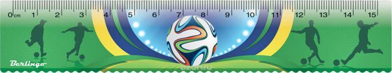 Berlingo Линейка Футбол 15 см
