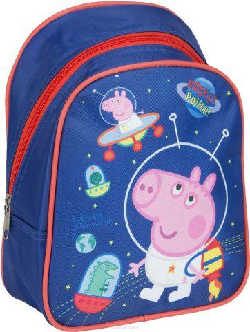 Peppa Pig Рюкзак дошкольный Свинка Пеппа цвет синий оранжевый 32038
