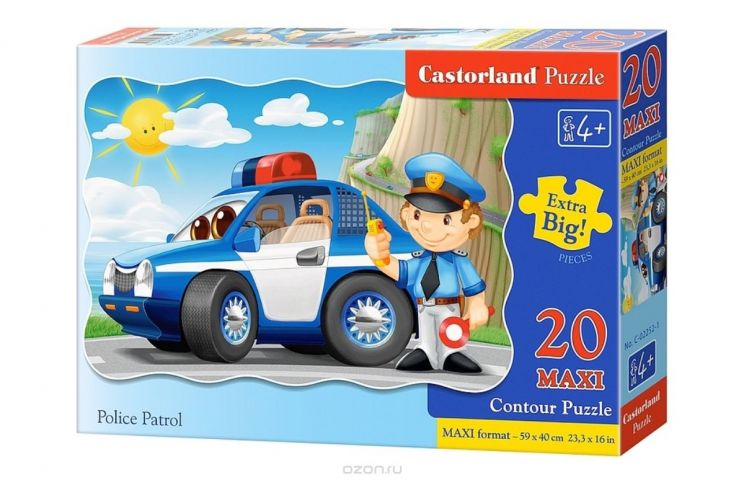 Castorland Пазл для малышей Полицейский патруль