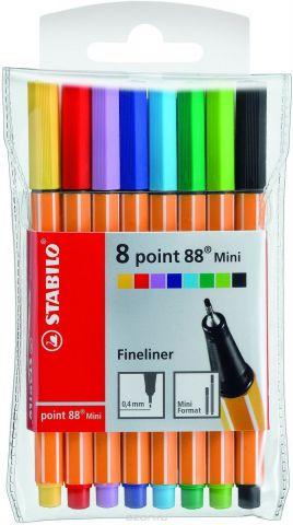 Stabilo Набор капиллярных ручек Poin 88 Mini 8 цветов