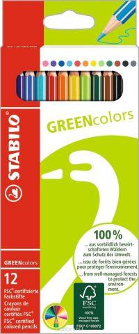 STABILO Набор цветных карандашей Green Colors 12 шт