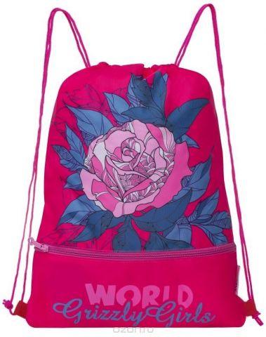 Grizzly Мешок для обуви цвет розовый OM-791-3