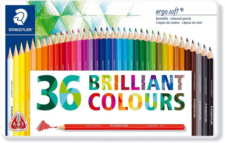 Staedtler Набор цветных карандашей Ergosoft 157 36 цветов