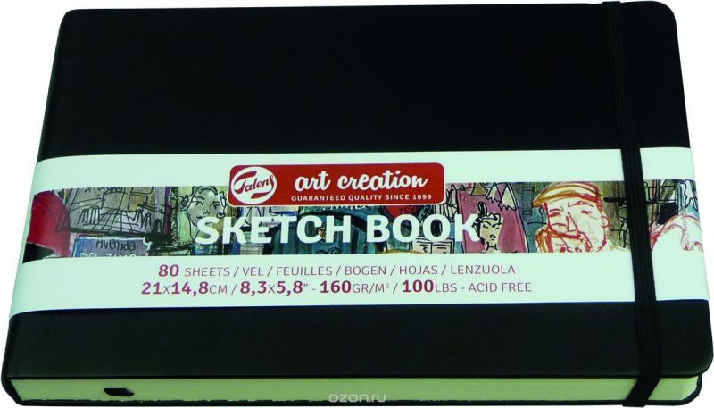 Royal Talens Блокнот для зарисовок Art Creation цвет черный 80 листов 9314005M