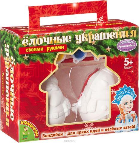 Bondibon Набор для изготовления игрушек Ёлочные украшения Дед Мороз Снеговик