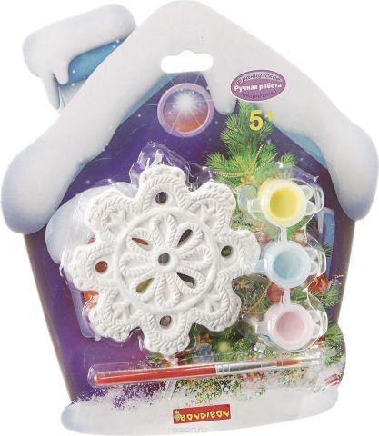Bondibon Набор для изготовления игрушек Ёлочные украшения Снежинка ВВ1655