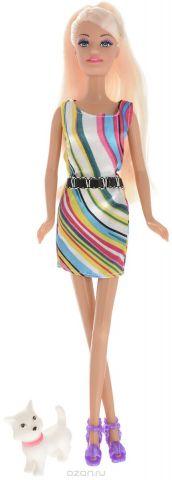 ToysLab Кукла Ася Прогулка со щенком Блондинка в ярком платье
