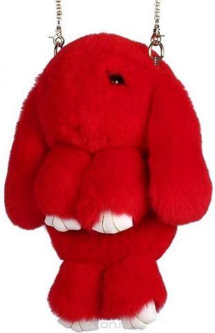 Рюкзак-сумка детский Пушистый кролик цвет красный