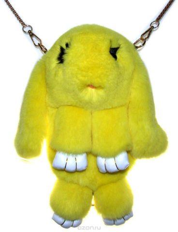 Рюкзак детский Пушистый кролик цвет желтый