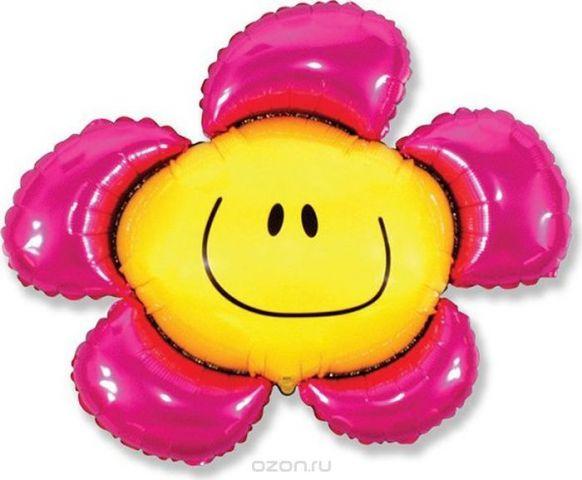 Флексметал Шарик воздушный Цветочек цвет розовый
