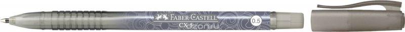 Faber-Castell Ручка-роллер СX5 0,5 мм цвет чернил черный