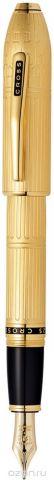 Cross Ручка перьевая Peerless Citizen LE London цвет корпуса золотистый перо золото 18К