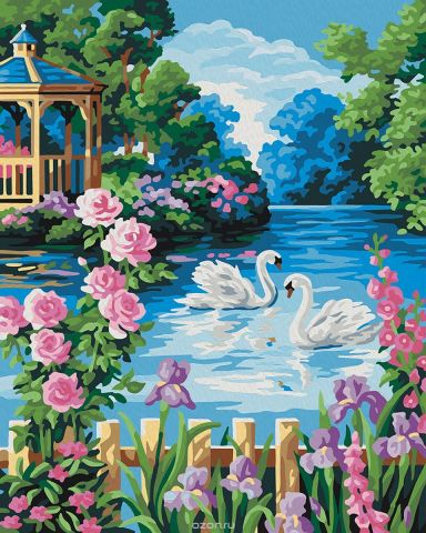 """Набор для рисования по номерам Мосфа """"Беседка у озера"""", 40 х 50 см"""