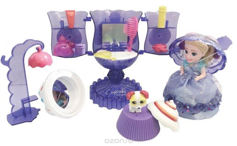Emco Игровой набор Surprise Мороженое Туалетный столик с куклой Капкейк и питомцем цвет сиреневый