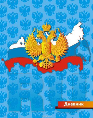 Апплика Дневник школьный для младших классов Российская символика-