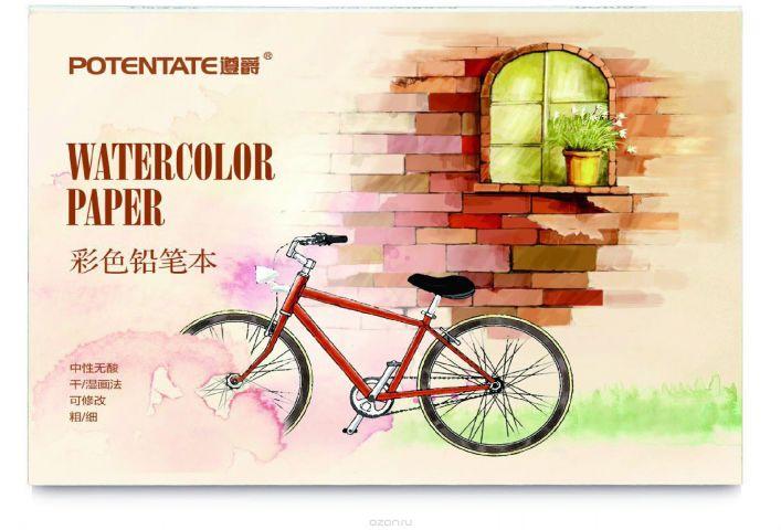 Potentate Альбом для рисования Watercolor Pencil Pad 12 л 155 x 105 мм