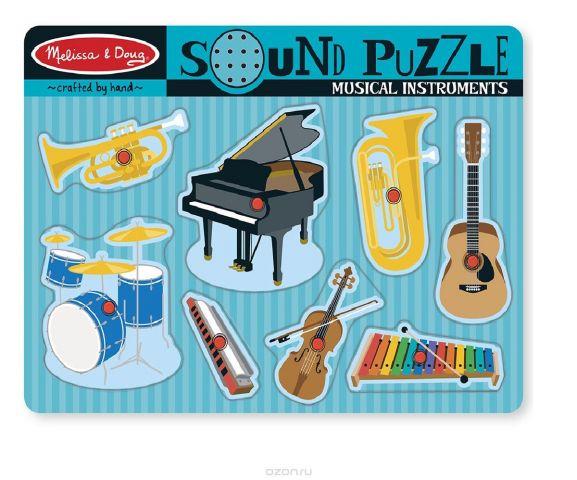 Melissa & Doug Пазл со звуком Музыкальные инструменты 8 элементов