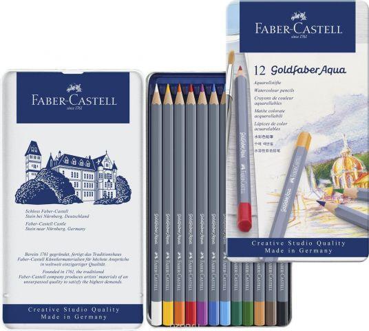Faber-Castell Набор цветных акварельных карандашей Goldfaber Aqua 12 цветов