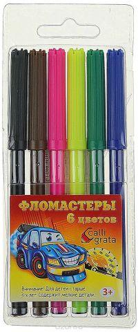 Calligrata Набор фломастеров Машинка 6 цветов 1264105