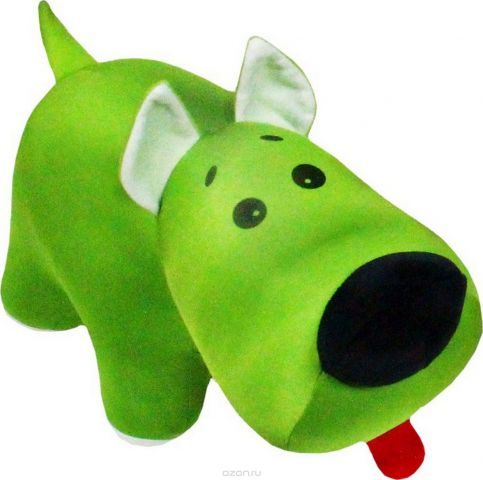 """Подушка-игрушка антистрессовая Штучки, к которым тянутся ручки """"Скотч терьер Тобби"""", цвет: зеленый, 33 см"""