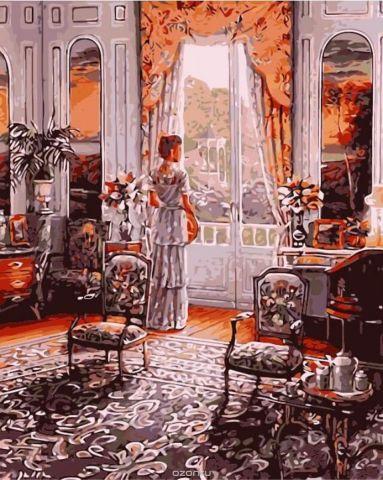 """Набор для рисования по номерам Цветной """"Дама у окна"""", 40 х 50 см"""