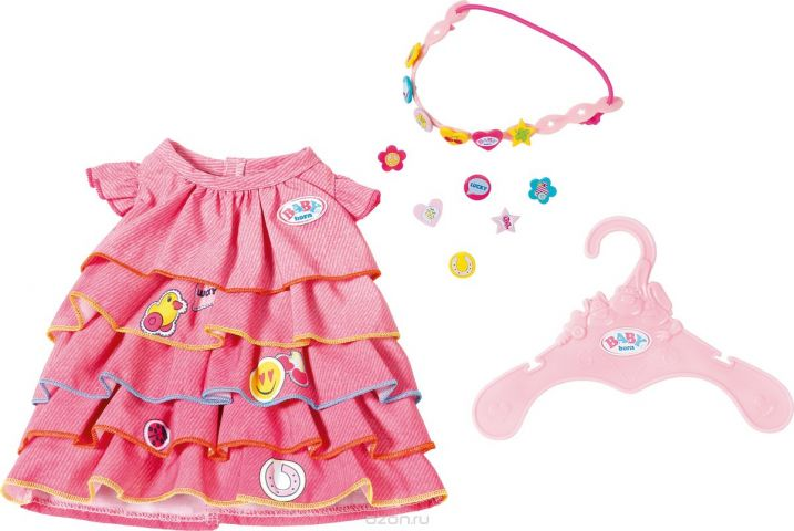 Zapf Creation Платье и ободок-украшение для куклы BABY born