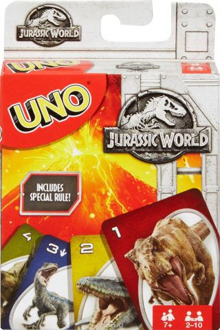 UNO Настольная игра Уно Парк Юрского периода