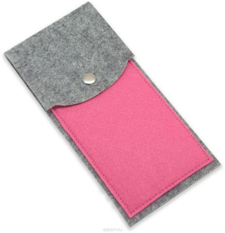 Feltrica Пенал цвет серый розовый